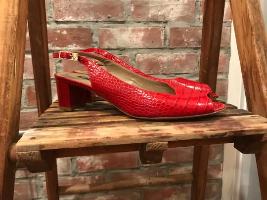 Bruno Magli Red Pumps Image 1