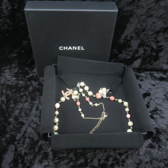 Chanel Faux Pearl and Enamel Cc Necklace Image 1