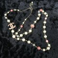 Chanel Faux Pearl and Enamel Cc Necklace Image 4