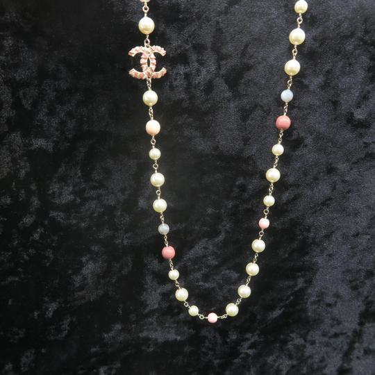 Chanel Faux Pearl and Enamel Cc Necklace Image 5