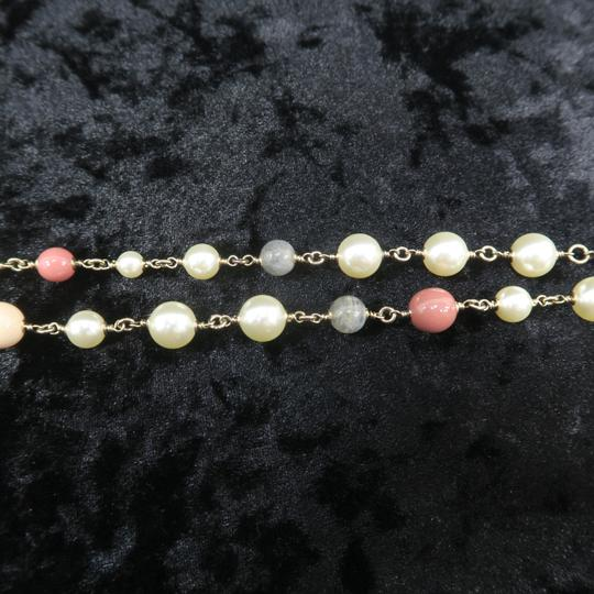 Chanel Faux Pearl and Enamel Cc Necklace Image 8