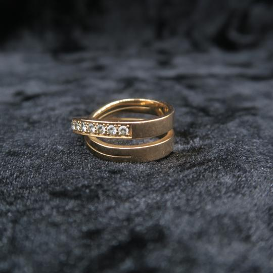 Cartier Cartier Rose Gold Diamond Etincelle Band Size 53 Ring Image 3