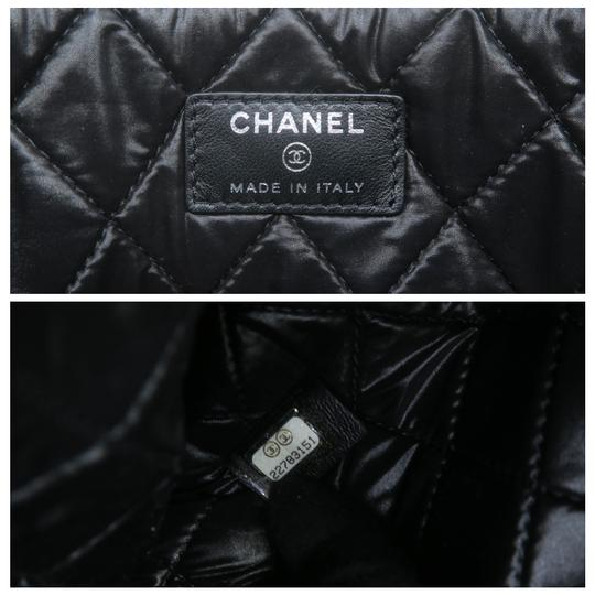 Chanel Tweed Quilted Pouch black Clutch Image 11