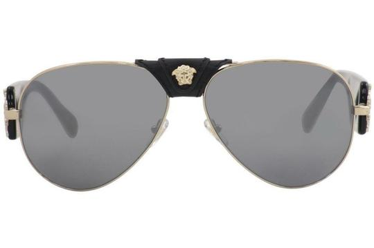 Versace Versace VE2150Q VE/2150/Q 1252/6G Pale Gold Genuine Leather Sunglasses Image 1