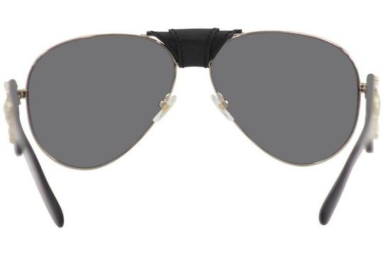 Versace Versace VE2150Q VE/2150/Q 1252/6G Pale Gold Genuine Leather Sunglasses Image 3