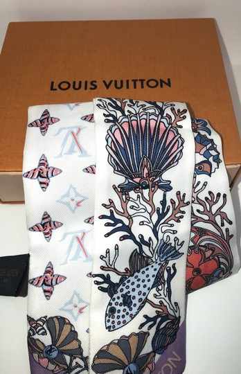 Louis Vuitton Louis Vuitton bandeau Under the Sea print Scarf Image 3