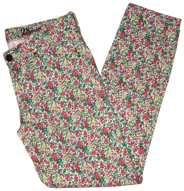 Item - Red and Green Floral Print 30679 Straight Leg Jeans Size 6 (S, 28)