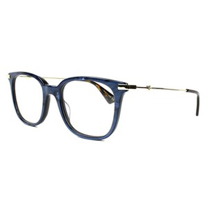 Gucci New Urban Gg0110o-005 Blue/Gold Transparent Sunglasses