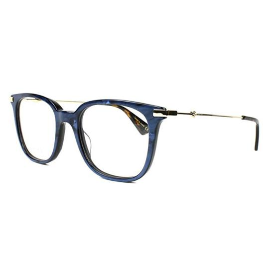 Gucci New Urban Gg0110o-005 Blue/Gold Transparent Sunglasses Image 0