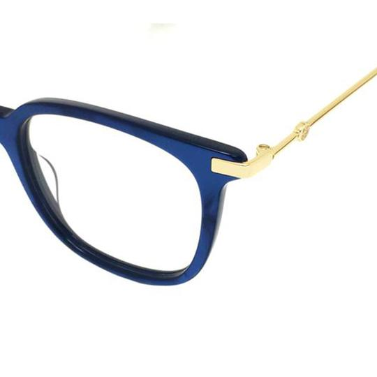 Gucci New Urban Gg0110o-005 Blue/Gold Transparent Sunglasses Image 2