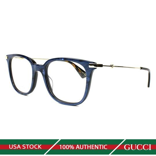 Gucci New Urban Gg0110o-005 Blue/Gold Transparent Sunglasses Image 5
