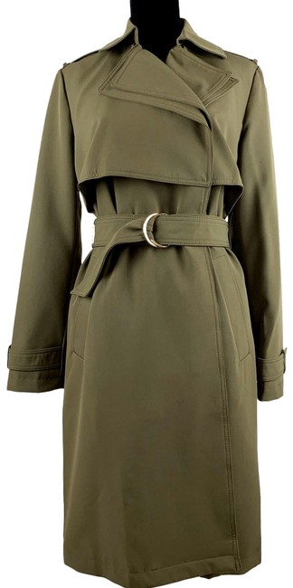 Preload https://img-static.tradesy.com/item/26298353/michael-kors-green-missy-belted-s-small-olive-long-jacket-coat-size-8-m-0-2-650-650.jpg