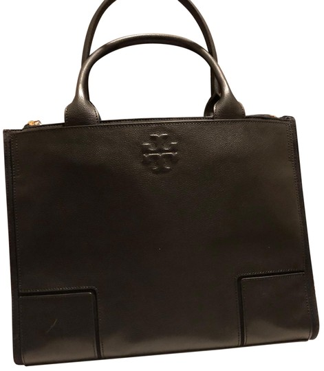 Preload https://img-static.tradesy.com/item/26298364/tory-burch-black-leather-and-canvas-tote-0-2-540-540.jpg
