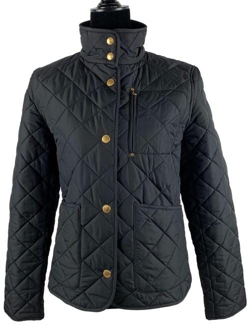 Preload https://img-static.tradesy.com/item/26298384/lauren-ralph-lauren-black-l-quilted-jacket-gold-pockets-button-down-coat-size-12-l-0-1-650-650.jpg