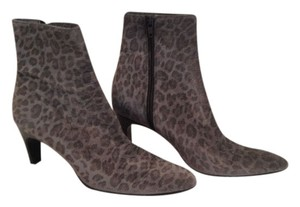Saint Laurent Bootie Grey Leopard Boots