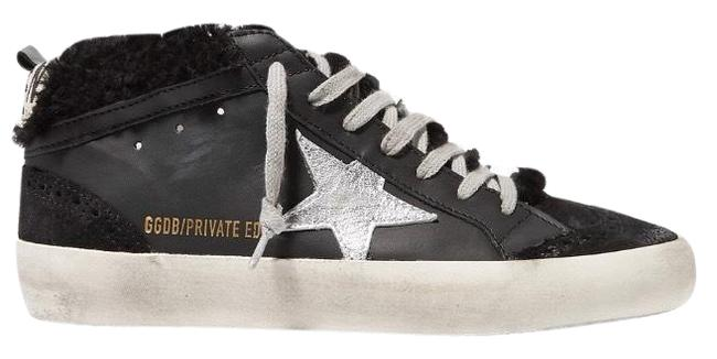 Golden Goose Deluxe Brand Black Mid Star Shearling Fur Lined Distressed Leather Sneakers Size EU 37 (Approx. US 7) Regular (M, B) Golden Goose Deluxe Brand Black Mid Star Shearling Fur Lined Distressed Leather Sneakers Size EU 37 (Approx. US 7) Regular (M, B) Image 1