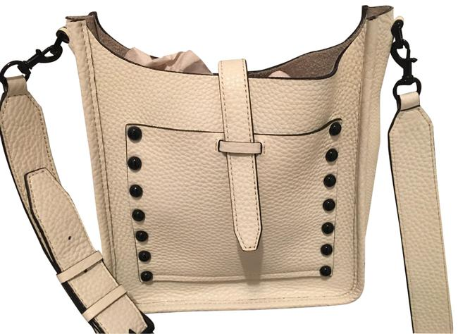 Item - New Free Gift. Cream and Black Leather Cross Body Bag