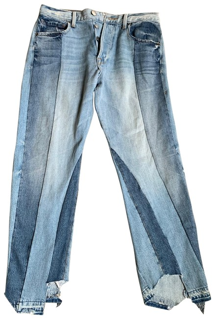 Item - Various Washed Out Blues Distressed Nouveau Le Mix Relaxed Fit Jeans Size 4 (S, 27)