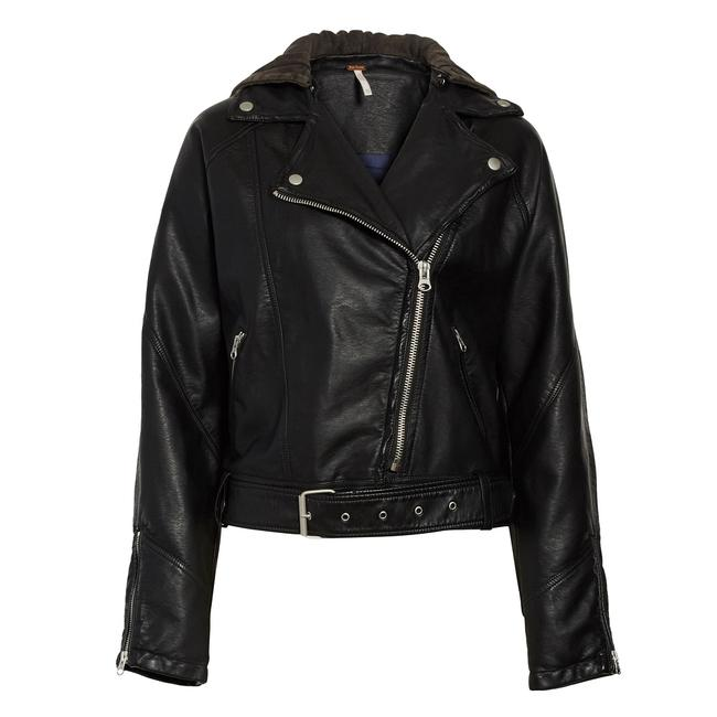 Free People Motorcycle Jacket Image 4