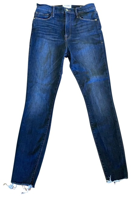 Item - Dark Washed Blue Rinse Ali High Cigarette Skinny Jeans Size 4 (S, 27)