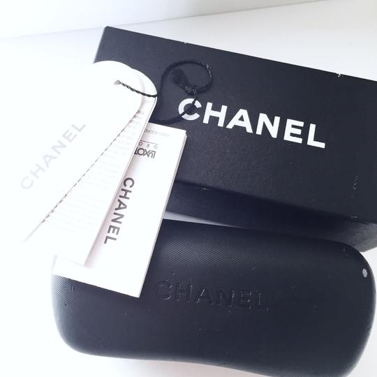 Chanel Chanel 4141-Q black leather silver aviator frames with case Image 3