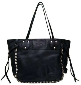 Coach Style: 34398 Leather Stud Detail Tote in Black