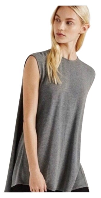 Item - Grey Brushed Cape Sleeveless Tank Top/Cami Size 4 (S)