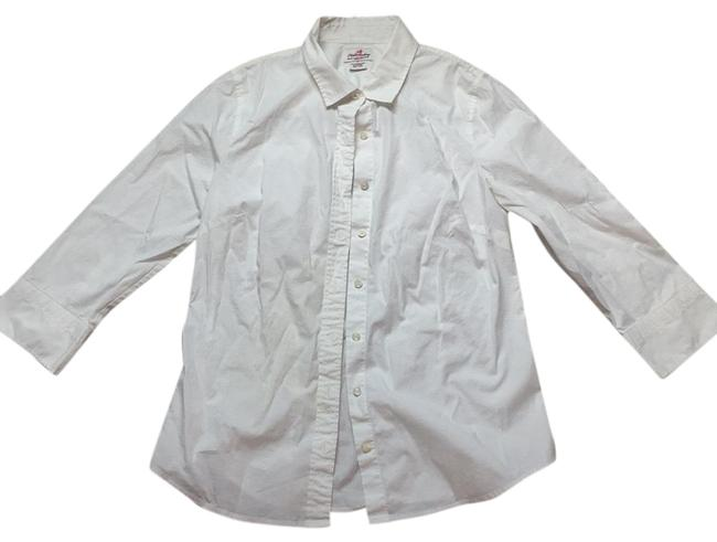 Item - White Haberdashery Refined Stretch Button-down Top Size 4 (S)