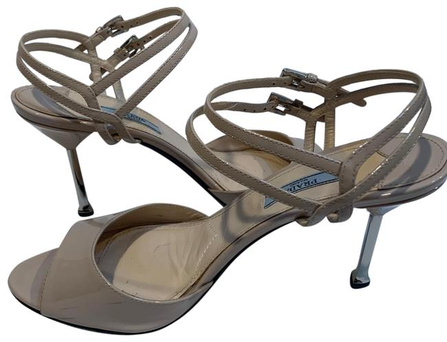Item - Nude Double Strap with Metal Heel Sandals Size EU 41 (Approx. US 11) Regular (M, B)