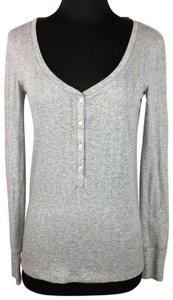 Victoria's Secret Metallic Longsleeve Holiday Top Gray