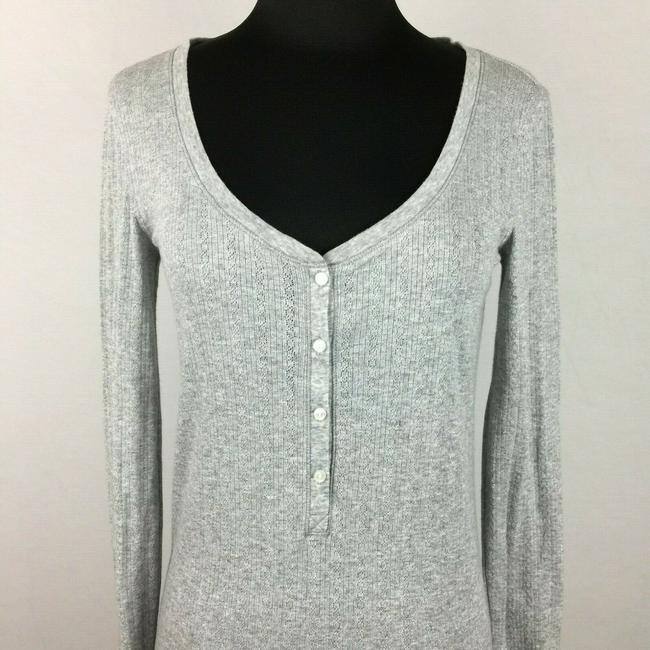 Victoria's Secret Metallic Longsleeve Holiday Top Gray Image 1