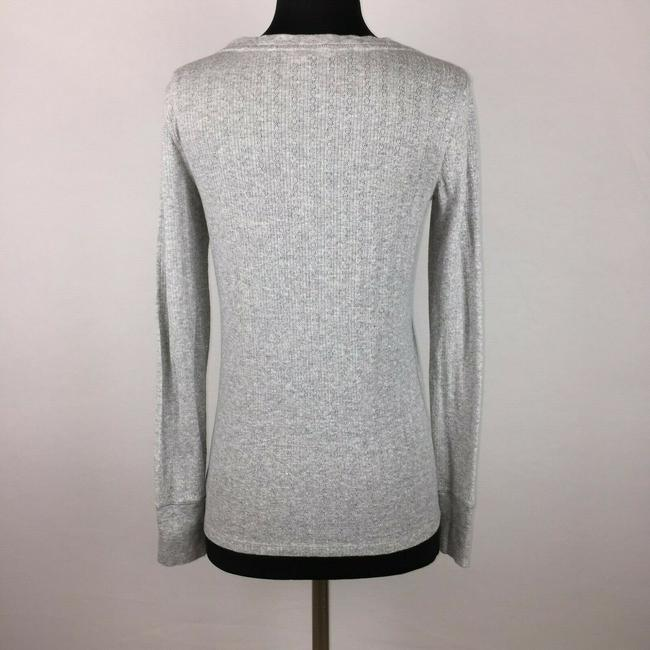 Victoria's Secret Metallic Longsleeve Holiday Top Gray Image 5