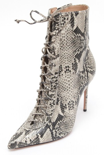 SCHUTZ Ankle Leopard Print Lace Up Pointed Toe Anaiya Black Boots Image 2