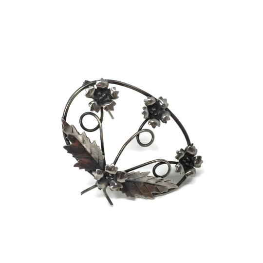 Sterling Silver Vintage Wild Flowers Brooch/Pin Image 1