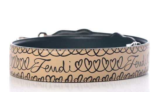 Fendi Fendi Open Your Heart You Shoulder Strap Amid Beige and Blue Amazzonia Image 7