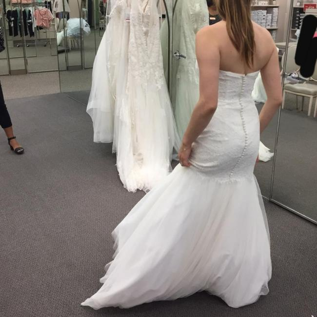 Preload https://item3.tradesy.com/images/david-s-bridal-white-unused-and-unaltered-long-formal-dress-size-4-s-26300217-0-1.jpg?width=400&height=650