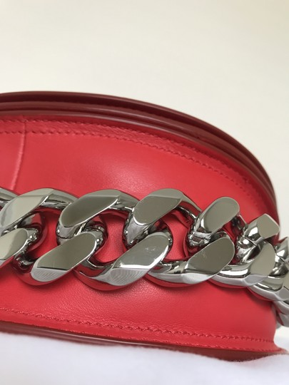 Givenchy Leather Chain Silver Hardware Cross Body Bag Image 6