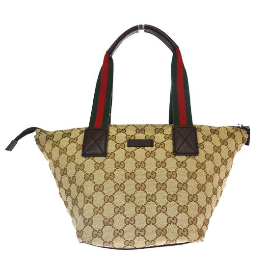 Preload https://img-static.tradesy.com/item/26300221/gucci-bag-gg-pattern-sherry-hand-brown-canvas-leather-tote-0-0-540-540.jpg