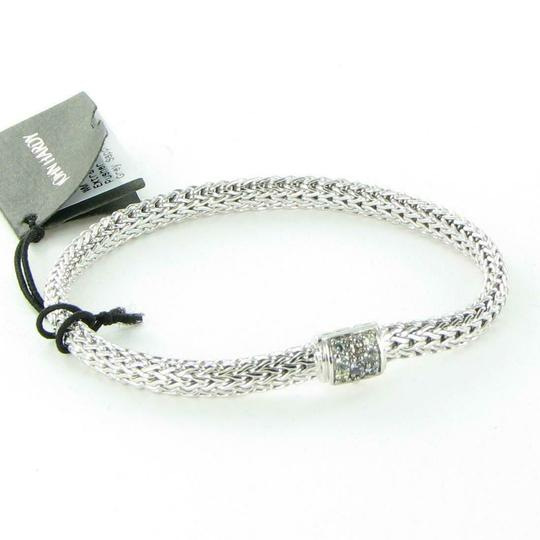 John Hardy Classic Chain 6mm Bracelet Grey Sapphire Clasp Sterling 925 Silver New Image 1