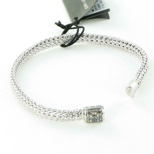 John Hardy Classic Chain 6mm Bracelet Grey Sapphire Clasp Sterling 925 Silver New Image 3