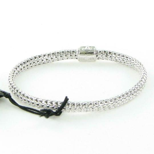 John Hardy Classic Chain 6mm Bracelet Grey Sapphire Clasp Sterling 925 Silver New Image 4