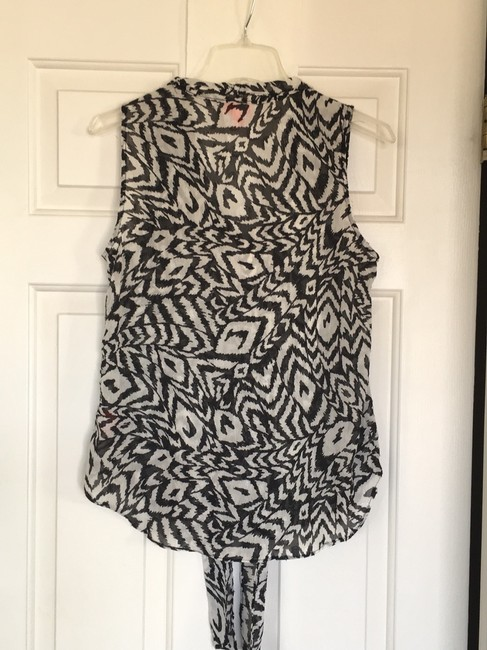 Kirna Zabete for Target Top Black, white with a hit on shimmer Image 2