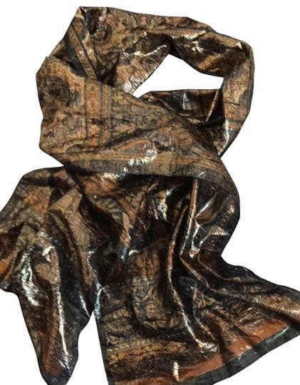 Preload https://img-static.tradesy.com/item/26300280/oscar-by-oscar-de-la-renta-brown-and-gray-silk-scarfwrap-0-1-540-540.jpg