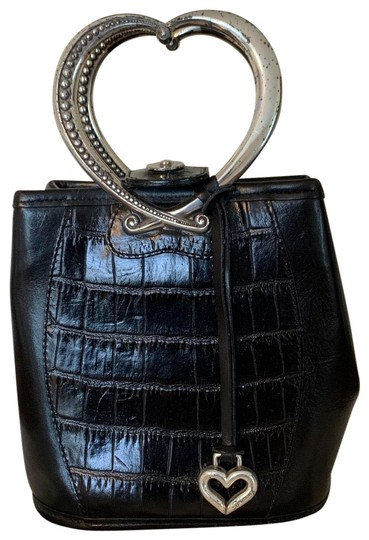 Preload https://img-static.tradesy.com/item/26300325/brighton-purse-with-heart-shaped-handles-black-leather-baguette-0-2-540-540.jpg
