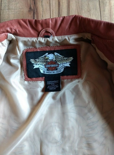Harley Davidson Wings Studded Leather Embroidered Embellished Motorcycle Jacket Image 10