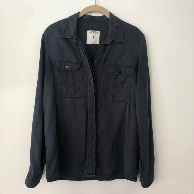 Zara Button Down Shirt Blue Image 2