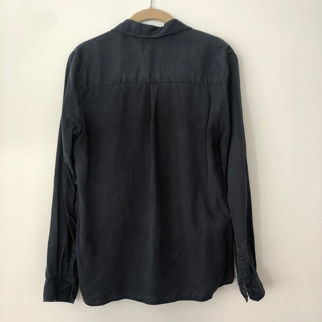 Zara Button Down Shirt Blue Image 3