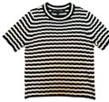 Proenza Schouler T Shirt black and white with beautiful blue piping end of sleeve