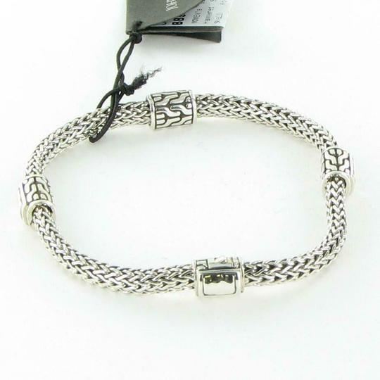John Hardy Classic Chain Hammered 4 Station 5mm Bracelet Sterling Silver Image 1