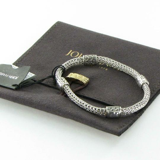 John Hardy Classic Chain Hammered 4 Station 5mm Bracelet Sterling Silver Image 3